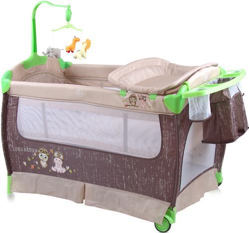 Кровать-манеж Bertoni Sleep N Dream 2 Layers Plus Biege Buddies 1707 (1)