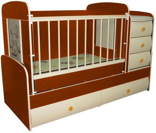 Кроватка-трансформер Glamvers Multy Vip Яблоня-локарно (7)