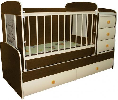 Кроватка-трансформер Glamvers Multy Vip Орех темный (7)