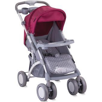 Коляска Bertoni APOLLO + сумка для мамы Grey-Pink Girl 1644 - Minim