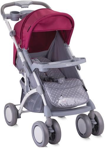 Коляска Bertoni APOLLO + сумка для мамы Grey-Pink Girl 1644 (4)