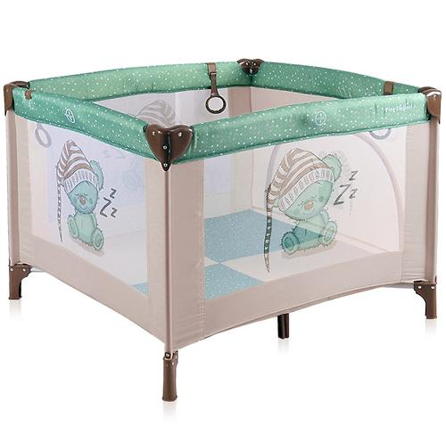 Манеж Bertoni Play Station Beige-Green Sleeping Bear 1802 (1)