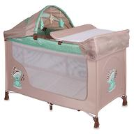 Кровать-манеж Lorelli San Remo 2 Plus Beige&Green Sleeping Bear 1802
