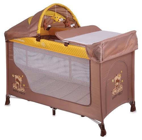 Кровать-манеж Lorelli San Remo 2 Plus Rocker Beige-Yellow Family 1803 (3)