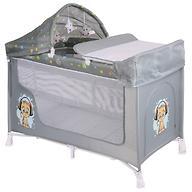 Кровать-манеж Lorelli San Remo 2 Plus Rocker Grey Cute Kitten 1805
