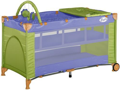 Кровать-манеж Bertoni Zippy 2 Plus Violet&Green 1409 (1)