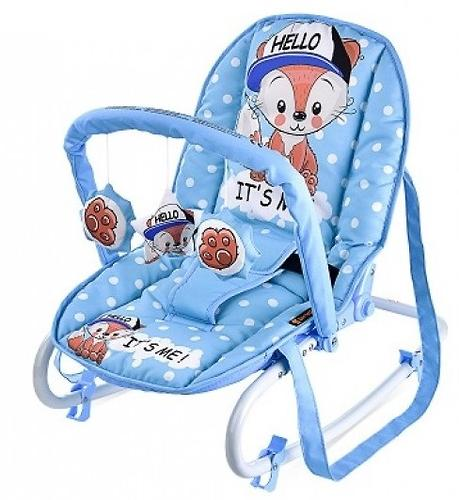 Стульчик-качалка Bertoni Top Relax Blue Baby Fox 1820 (3)
