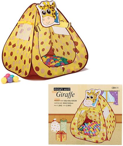 Домик Bony Жираф с шариками 100x100x100 см (4)