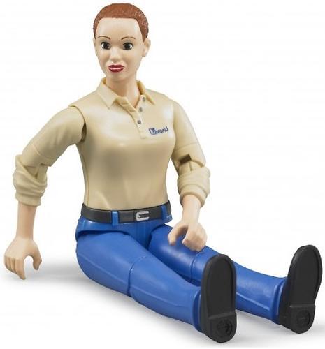 Фигурка женщины Bruder голубые джинсы (6)