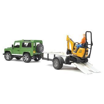 Bruder внедорожник c прицепом и экскаватором 8010 CTS Land Rover Defender - Minim