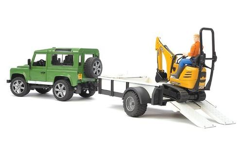 Bruder внедорожник c прицепом и экскаватором 8010 CTS Land Rover Defender (4)