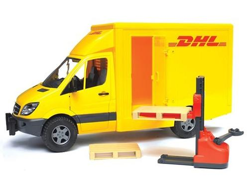 Bruder фургон DHL с погрузчиком MB Sprinter (5)