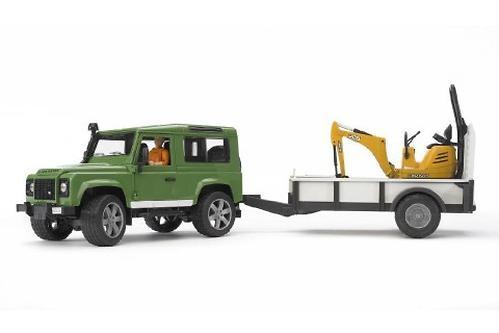 Bruder внедорожник c прицепом и экскаватором 8010 CTS Land Rover Defender (5)