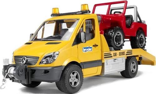 Bruder Эвакуатор MB Sprinter с внедорожником (6)