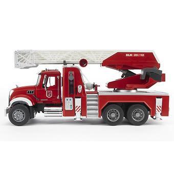 Bruder пожарная машина с выдвижной лестницей и помпой MACK - Minim