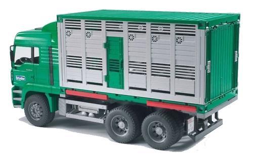 Bruder фургон для перевозки животных с коровой MAN (3)