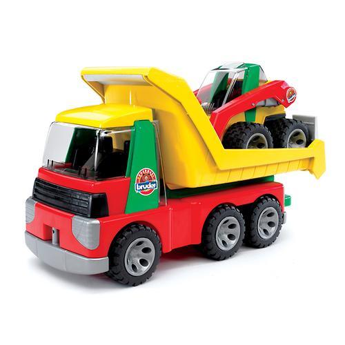 Bruder грузовик с погрузчиком Roadmax (4)