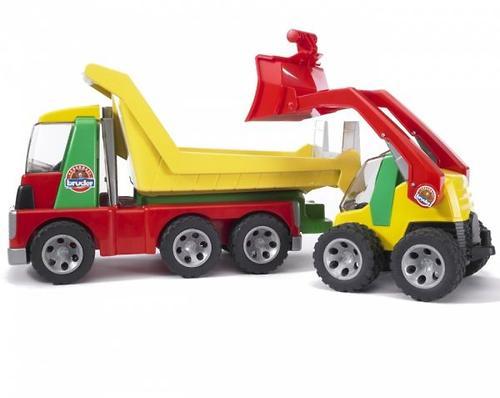 Bruder грузовик с погрузчиком Roadmax (5)