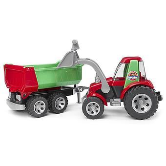Bruder трактор с ковшом и прицепом Roadmax - Minim