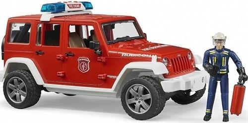 Внедорожник Bruder Jeep Wrangler Unlimited Rubicon Пожарная с фигуркой (7)