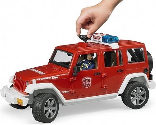 Внедорожник Bruder Jeep Wrangler Unlimited Rubicon Пожарная с фигуркой (8)
