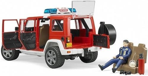 Внедорожник Bruder Jeep Wrangler Unlimited Rubicon Пожарная с фигуркой (10)