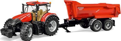 Трактор Bruder Case IH Optum 300 CVX с прицепом Krampe Tandem-Halfpipe (4)