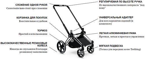 Шасси Chrome Trekking для коляски Cybex Priam (6)