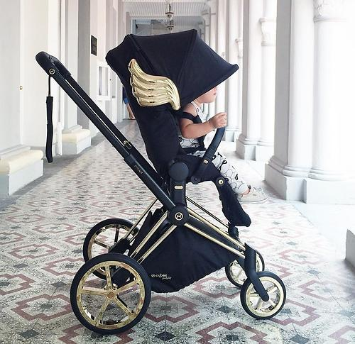 Коляска Cybex Priam by Jeremy Scott Wings black (16)