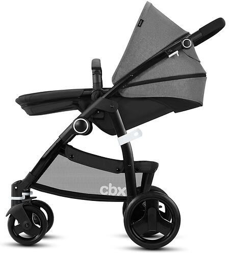 Коляска 2в1 Cybex CBX Leotie Pure Smoky Anthracite (10)