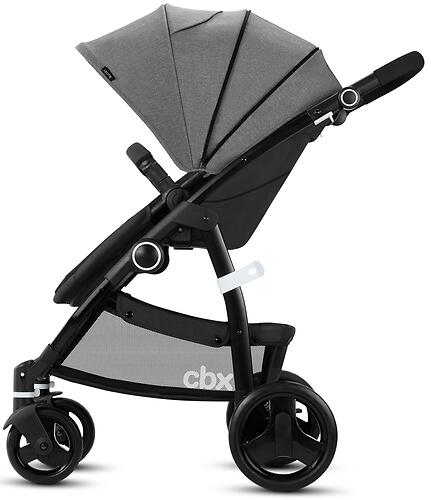 Коляска 2в1 Cybex CBX Leotie Pure Smoky Anthracite (11)