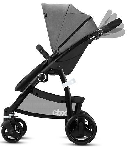 Коляска 2в1 Cybex CBX Leotie Pure Smoky Anthracite (12)