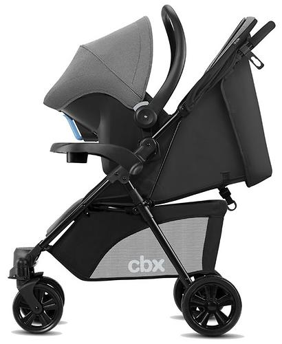 2 1 cbx by cybex woya travel system comfy grey. Black Bedroom Furniture Sets. Home Design Ideas