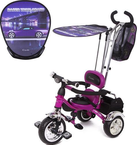 Велосипед Capella Racer Trike Grand 3-х колесный, 1-5 лет, Car (Фиолетовый) (1)