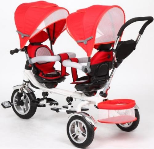 Велосипед Capella Twin Trike 360 для двойни 3-х колесный Red (10)
