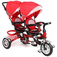 Велосипед Capella Twin Trike 360 для двойни 3-х колесный Red
