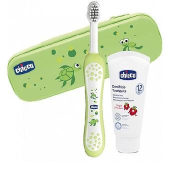Набор Chicco для ухода за полостью рта (зубная щетка и паста) унисекс 12+ - Minim