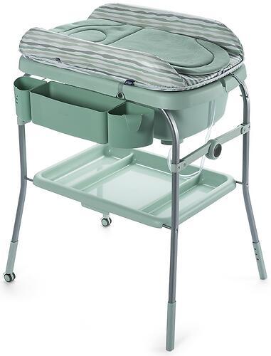 Столик для пеленания+ванночка Chicco Cuddle-Bubble Eucalyptus (12)