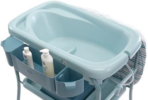 Столик для пеленания+ванночка Chicco Cuddle-Bubble Eucalyptus (16)
