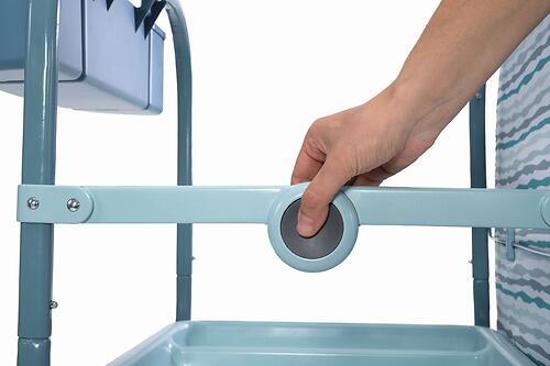 Столик для пеленания+ванночка Chicco Cuddle-Bubble Eucalyptus (18)