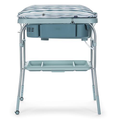 Столик для пеленания+ванночка Chicco Cuddle-Bubble Eucalyptus (13)