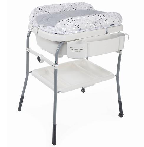 Столик для пеленания+ванночка Chicco Cuddle-Bubble Cool Grey (10)