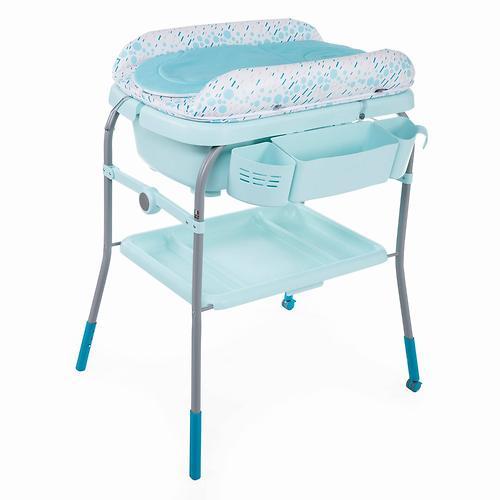 Столик для пеленания+ванночка Chicco Cuddle-Bubble Dusty Green (10)