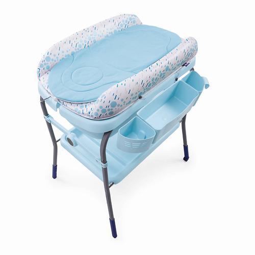 Столик для пеленания+ванночка Chicco Cuddle-Bubble Cool Grey (11)