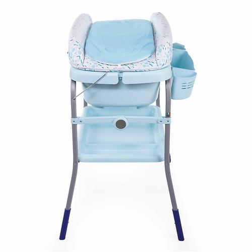 Столик для пеленания+ванночка Chicco Cuddle-Bubble Cool Grey (12)