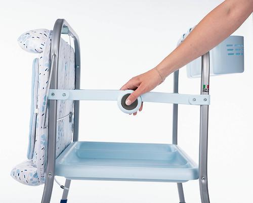 Столик для пеленания+ванночка Chicco Cuddle-Bubble Cool Grey (13)