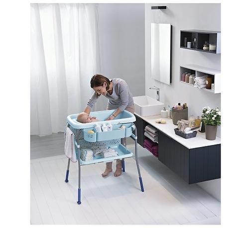 Столик для пеленания+ванночка Chicco Cuddle-Bubble Cool Grey (16)