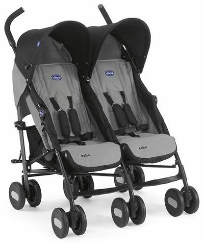 Коляска Chicco для близнецов Echo Twin Stroller Coal (7)