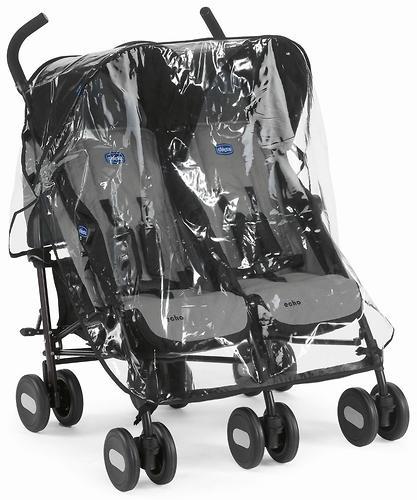 Коляска Chicco для близнецов Echo Twin Stroller Coal (9)