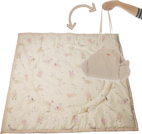 Коврик трансформер Чудо-Чадо + переносной коврик-сумка бежевый бегемотик (4)